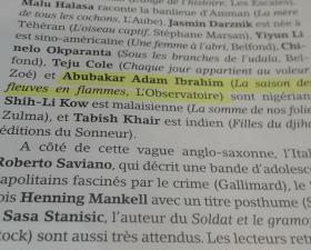 Abubakar Adam Ibrahim dans Livres Hebdo