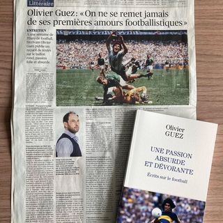- Le Figaro Littraire consacre une pleine page cette semaine au livre dOlivier Guez, Une...